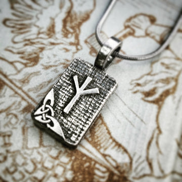 Celtic Knot Works Jewelry Algiz Rune Pendant – Protection, Self Defense – Ancient Traditions