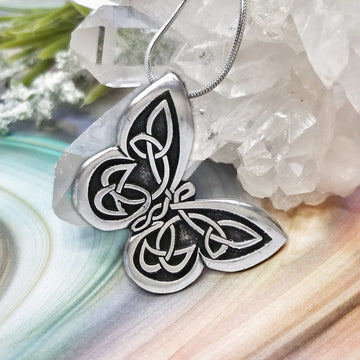 Celtic Knot Works Jewelry Celtic Butterfly Pendant