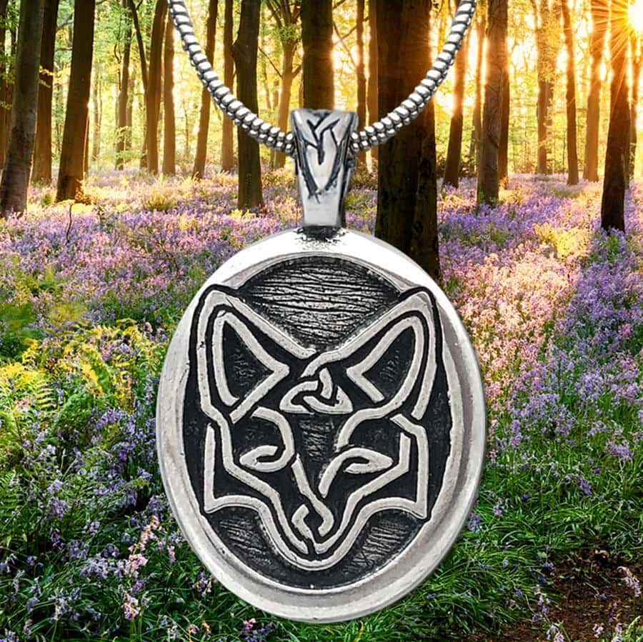 Celtic Knot Works Jewelry Celtic Fox Pendant