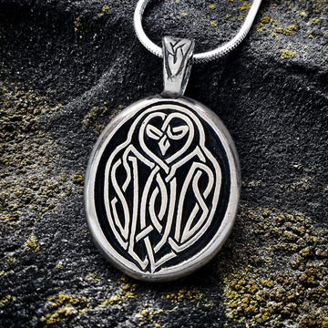 Celtic Knot Works Jewelry Celtic Owl Pendant