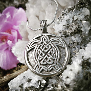 Celtic Knot Works Jewelry Celtic Turtle Pendant