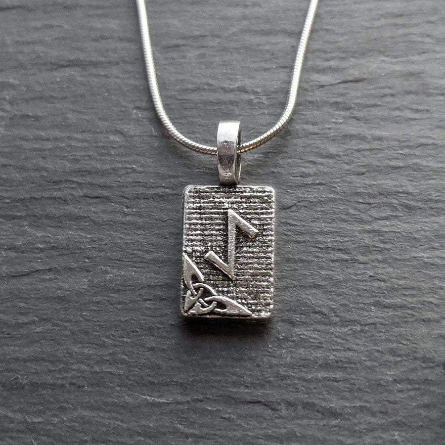 Celtic Knot Works Jewelry Eihwaz Rune Pendant – Strength, Resilience, Regeneration – Ancient Traditions