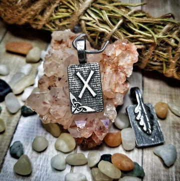 Celtic Knot Works Jewelry Gebo Rune Pendant – Gift, Generosity, Talent – Ancient Traditions