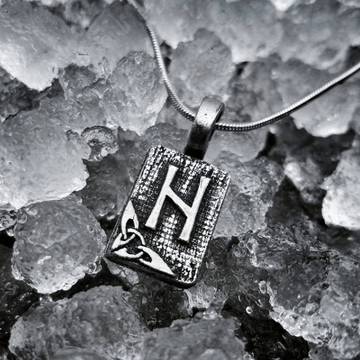 Celtic Knot Works Jewelry Hagalaz Rune Pendant – Destruction, Turbulent Change, Wild Nature – Ancient Traditions