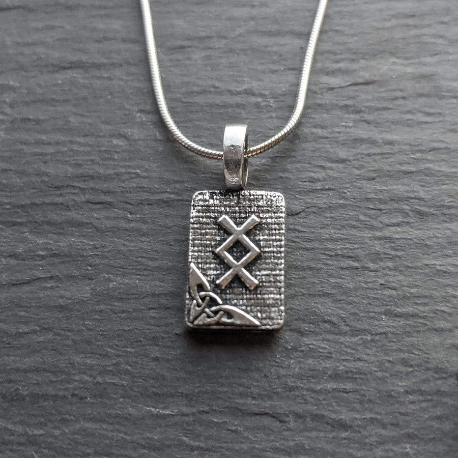Celtic Knot Works Jewelry Inguz Rune Pendant – Fertility, Seeds, Creativity – Ancient Traditions