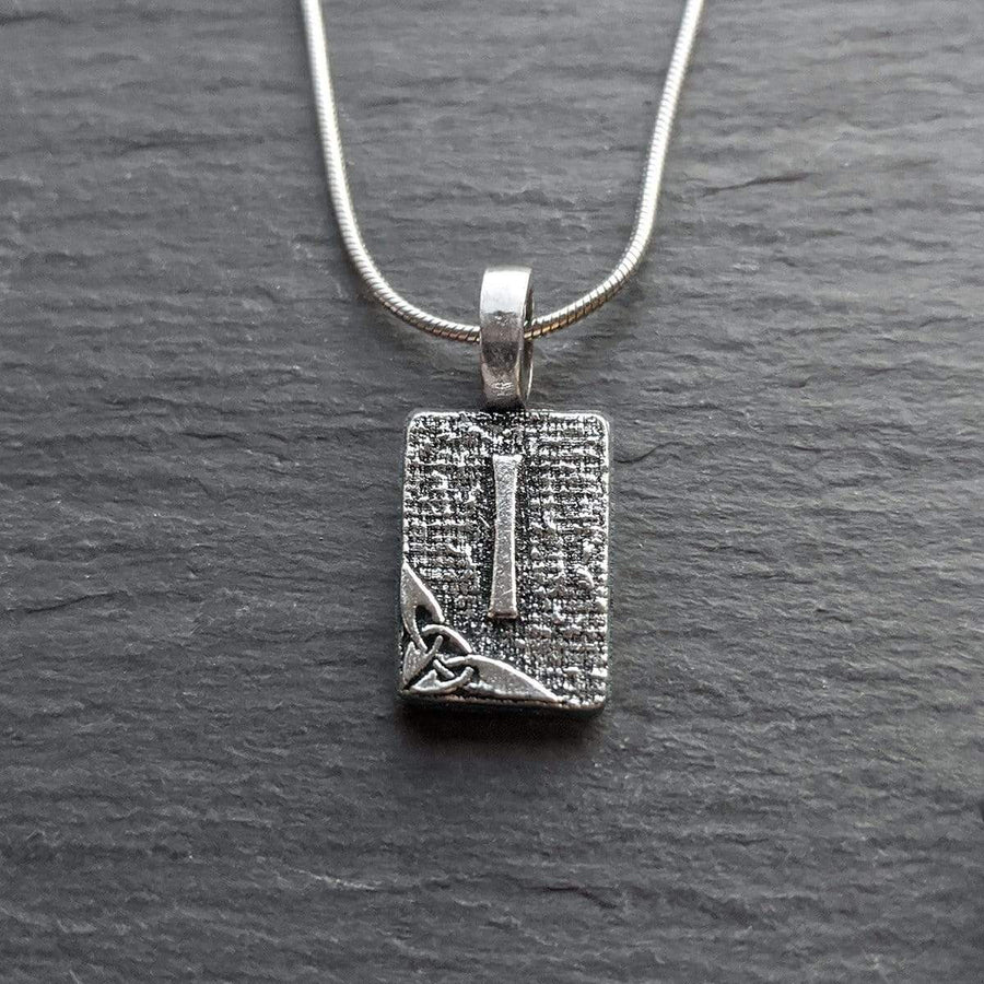 Celtic Knot Works Jewelry Isa Rune Pendant – Winter, Cold Beauty, Crystallization – Ancient Traditions