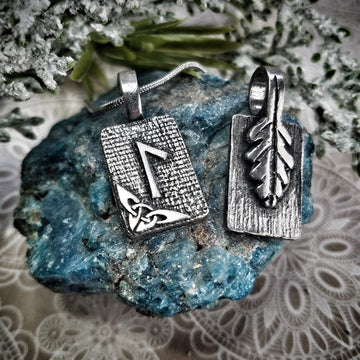 Celtic Knot Works Jewelry Laguz Rune Pendant – Abundance, Opportunity, Possibilities – Ancient Traditions
