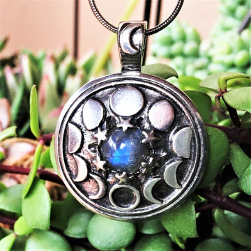 Celtic Knot Works Jewelry Phases of the Moon Pendant