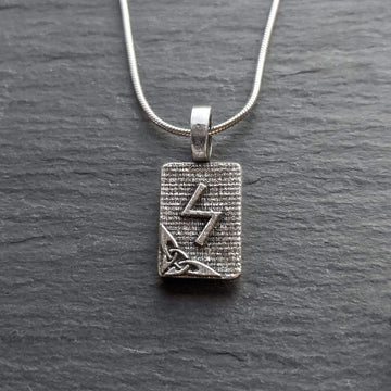 Celtic Knot Works Jewelry Sowilo Rune Pendant – Sun, Light, Hope, Success – Ancient Traditions