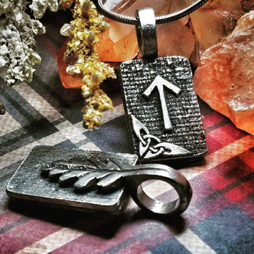 Celtic Knot Works Jewelry Tiwaz Rune Pendant – Justice, Sense of Duty, Honor – Ancient Traditions