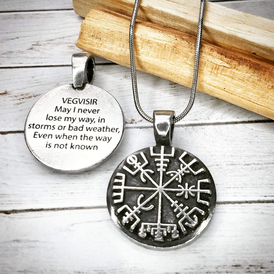 Celtic Knot Works Jewelry Viking Compass Pendant - Vegvisir - Wayfinder