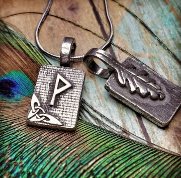 Celtic Knot Works Jewelry Wunjo Rune Pendant – Joy, Victory,Gratitude – Ancient Traditions