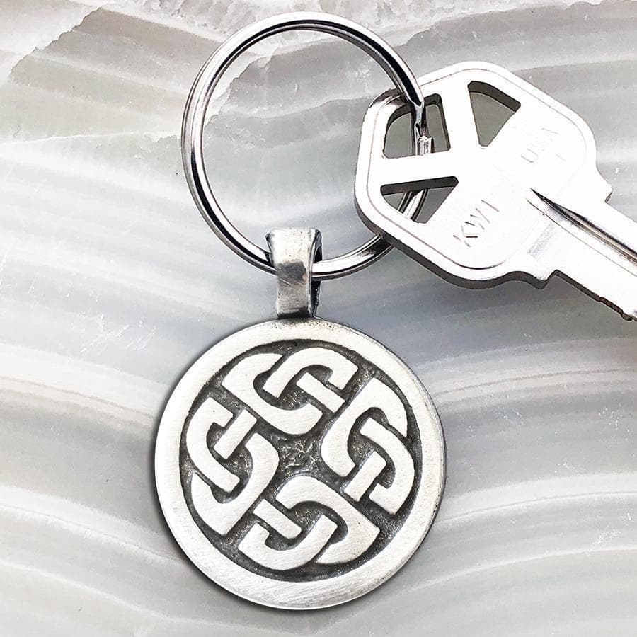 Celtic Knot Works Key Chain Celtic Knot Keychain - Shield Knot