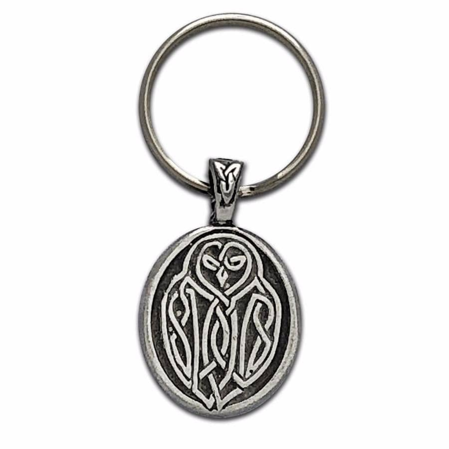 Celtic Knot Works Key Chain Celtic Owl Keychain