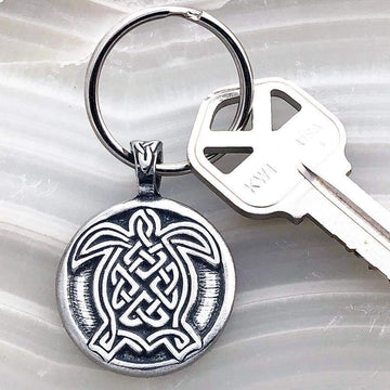 Celtic Knot Works Key Chain Celtic Turtle Keychain