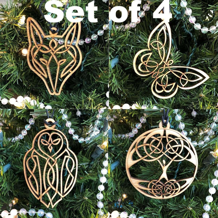 Celtic Knot Works Ornaments Set of 4 Celtic Traditions Ornaments
