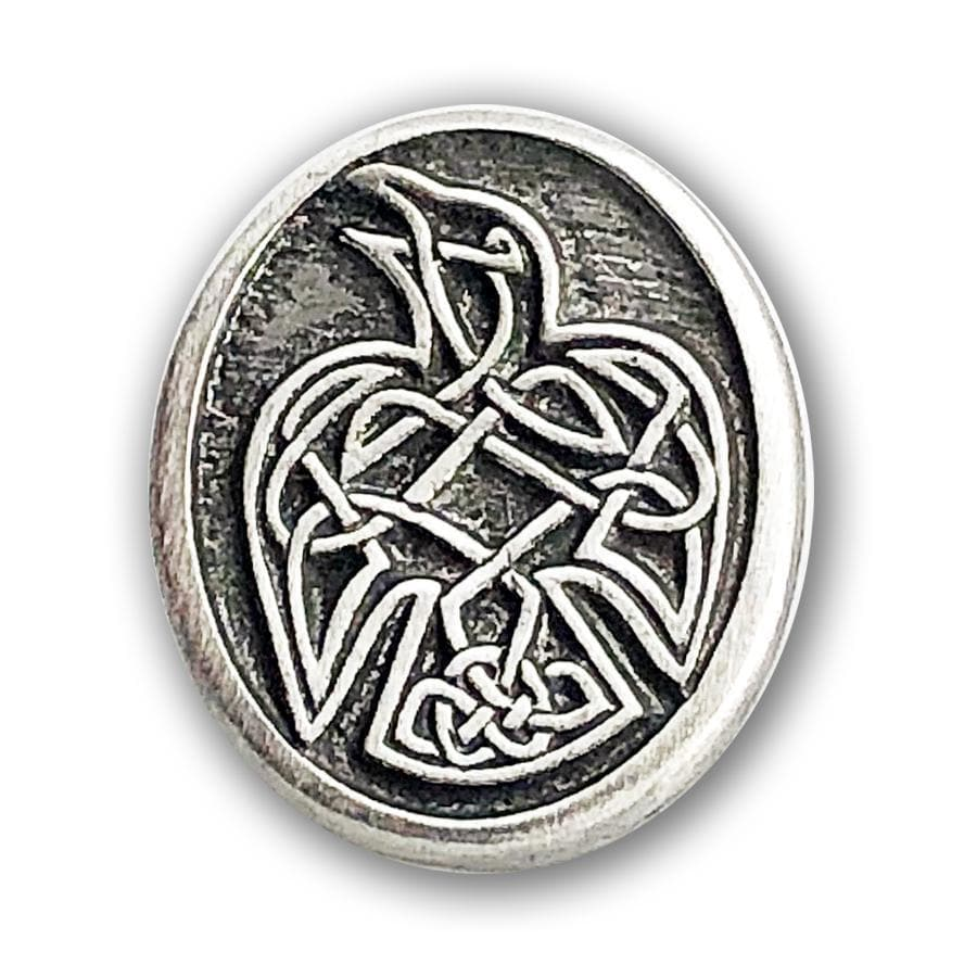 Celtic Knot Works Pin Celtic Raven Pewter Pin