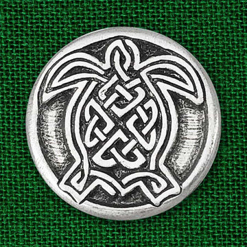 Celtic Knot Works Pin Celtic Turtle Pewter Pin