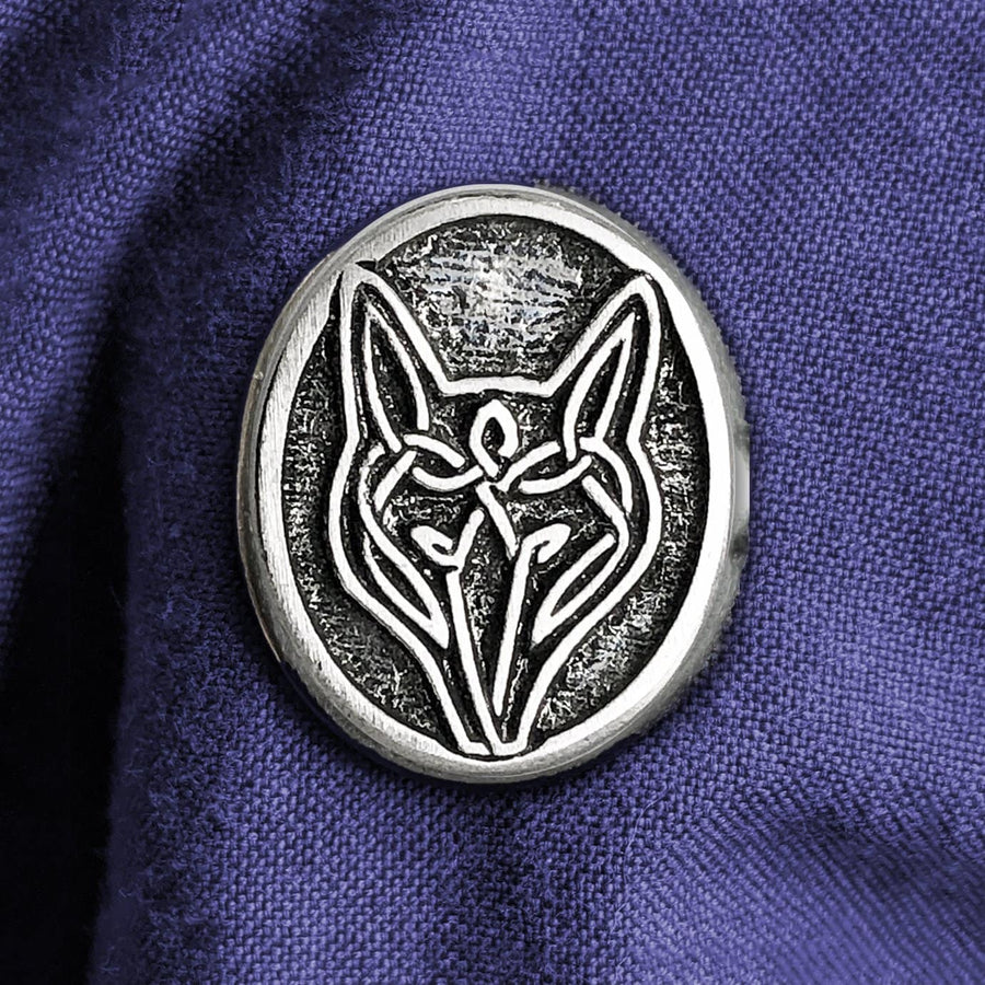 Celtic Knot Works Pin Celtic Wolf Pewter Pin