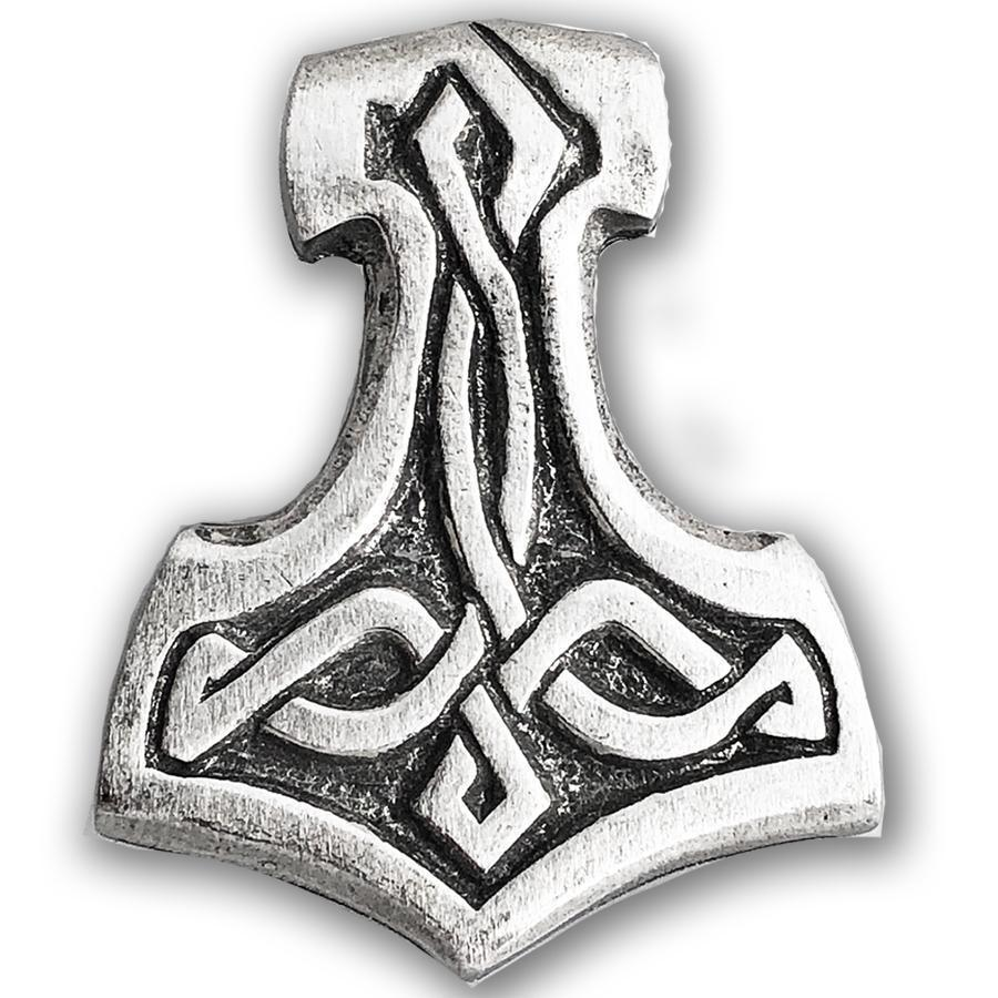 Celtic Knot Works Pin Thor's Hammer Pewter Pin