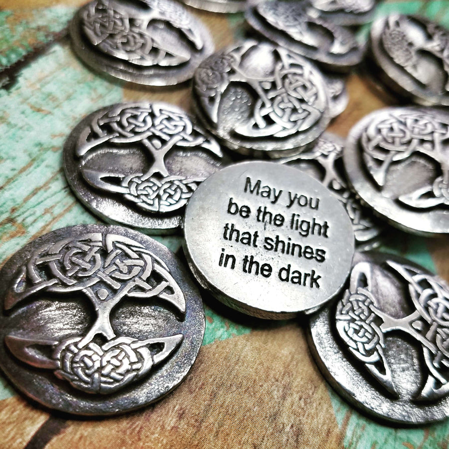Celtic Knot Works Pocket Charms Pouch of Tree of Life Blessings - Celtic Blessing Pocket Charms 3pc bag