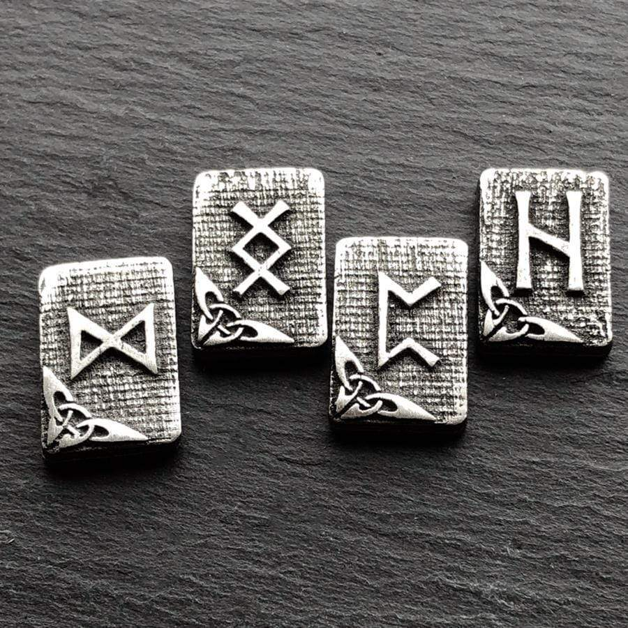 Celtic Knot Works Runes Hearth Pewter Rune Gift Set With Rune Cloth -  Elder Futhark