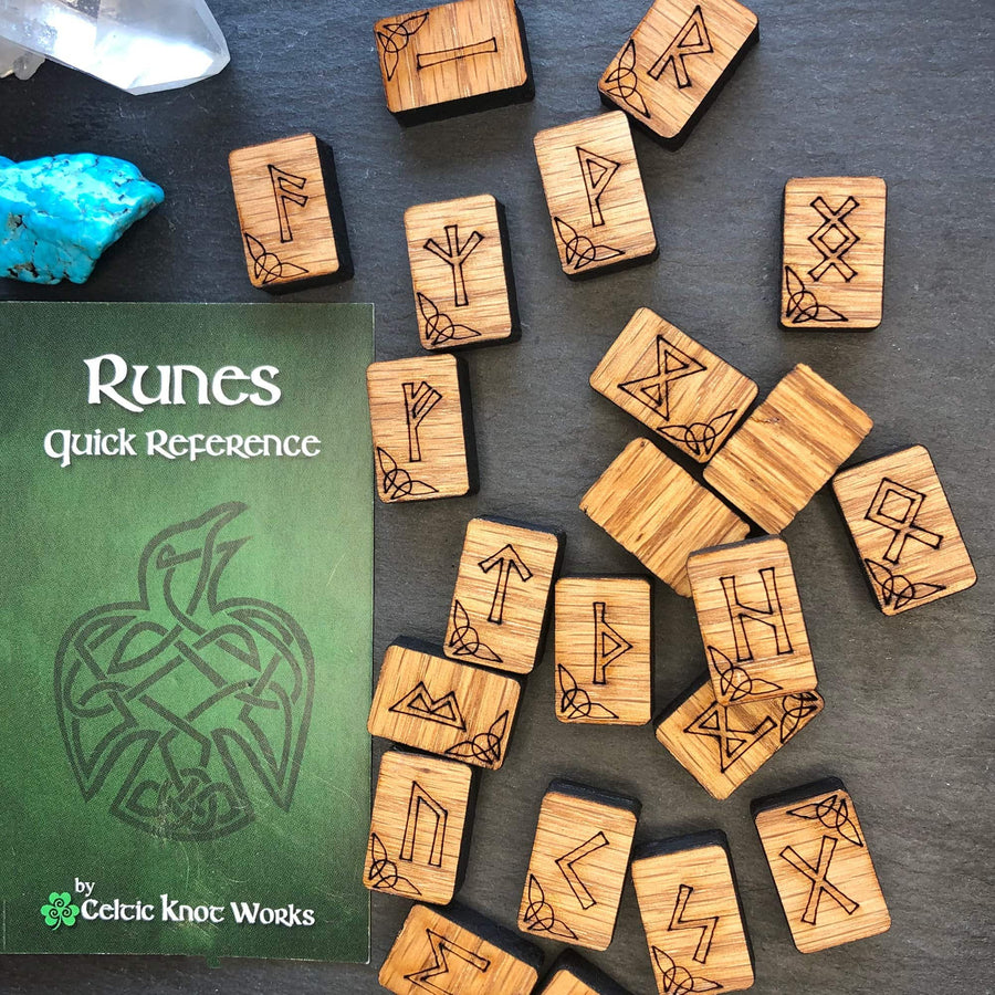 Celtic Knot Works Runes Oak Rune Set Starter Edition 24pc -  Elder Futhark