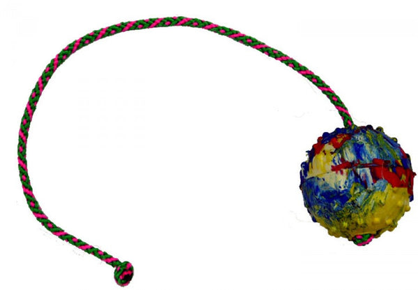 Gappay - Gappay 6 Cm - 2 1/4 In Solid Rubber Ball With 50 Cm - 19 3/4 In String - Kennel Club Gear