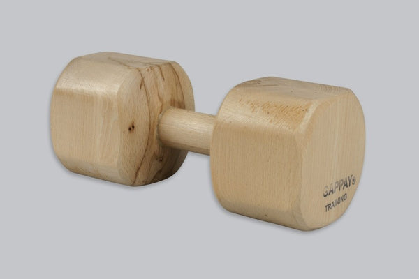 Gappay - Gappay IPO 3 Wooden Dumbbell With Training Grip 2 kg - Kennel Club Gear