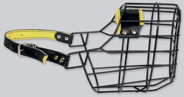 Gappay Black / Yellow Rubber Coated Wire Frame Muzzles