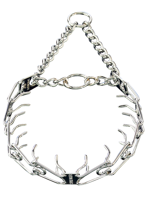 Sprenger Prong Collar W/ Ultra-Plus - Chrome Plated Steel