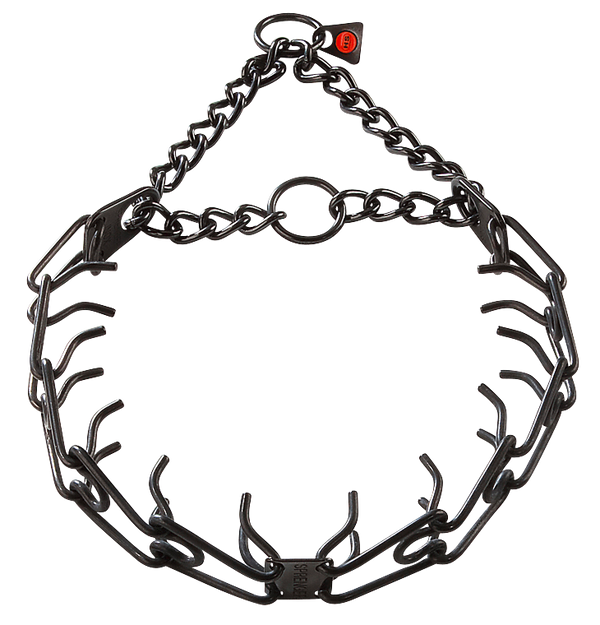 Sprenger Prong Collar W/ Ultra-Plus - Black Stainless Steel II