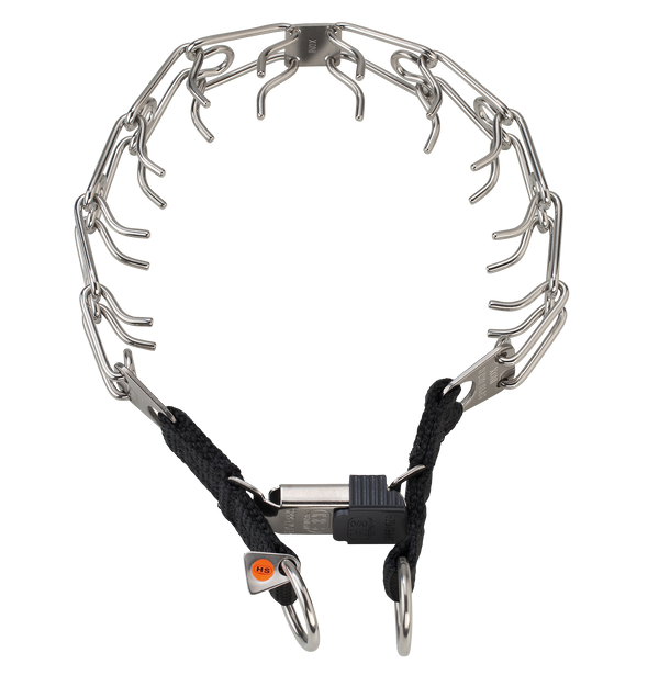 Sprenger Prong Collar W/ Ultra-Plus & Cliclock - Stainless Steel II - Dual Ring | kennel-club-gear
