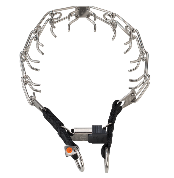 Sprenger Prong Collar W/ Ultra-Plus & Cliclock - Stainless Steel II - Dual Ring
