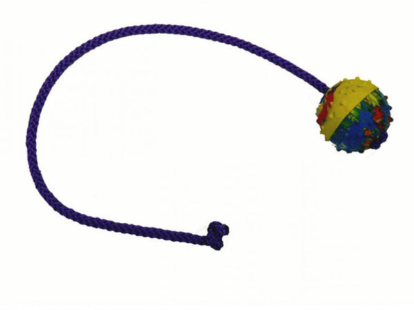 Gappay - Gappay 5 Cm - 1 7/8 In Solid Rubber Ball With 50 Cm - 19 3/4 In String - Kennel Club Gear