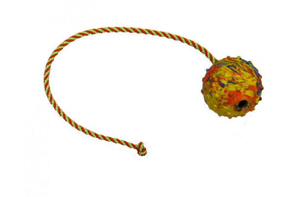 Gappay - Gappay 7 Cm - 2 3/4 In Hollow Rubber Ball With 50 Cm - 19 3/4 In String - Kennel Club Gear