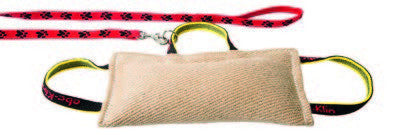 KLIN Three Handle Jute Bite Pillow with lead - Soft