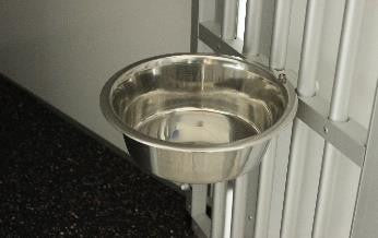 WT-Metall - Wt-Metall Water Bowl With Holder - Kennel Club Gear