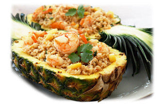 Stuffed Pineapple Shrimp Fried Rice
