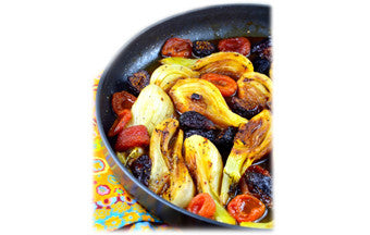 Braised Fennel with Apricots & Figs