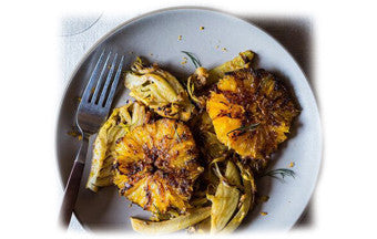 Caramelized Fennel, Leek & Orange Salad