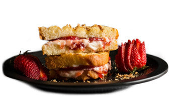Grilled Strawberry Cheesecake Sandwich