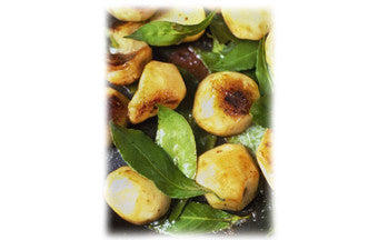 Sautéed Sunchokes with Garlic & Bay Leaves
