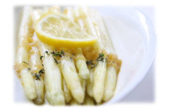White Asparagus with Lemon Pan Sauce