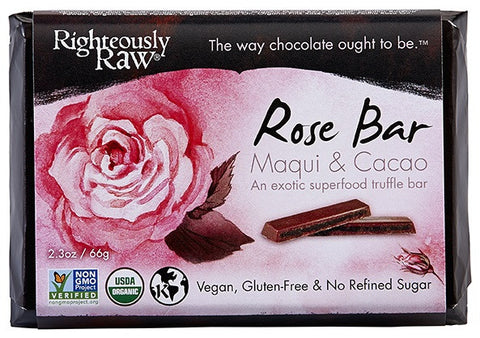 Righteously Raw's Rose Truffle Bars