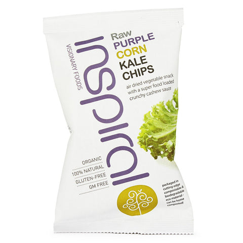 inSpiral's Purple Corn Kale Chips