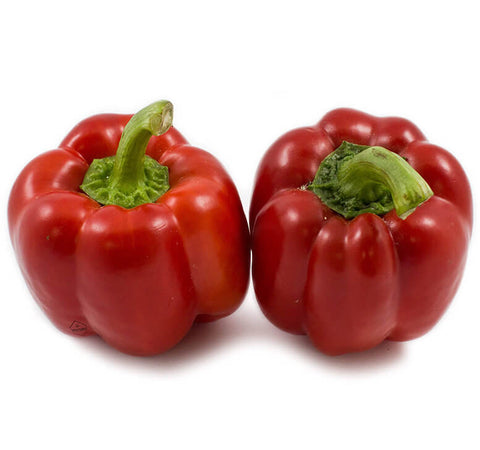 Red Bell Peppers (2 pcs) - Organic