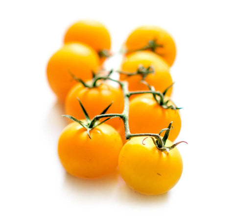 Yellow Cherry Tomatoes on the Vine