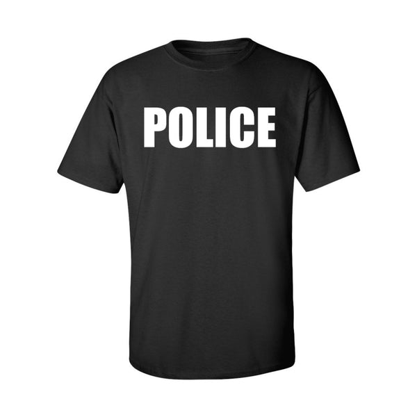 MENS TWO SIDE POLICE TSHIRT SHORT SLEEVE