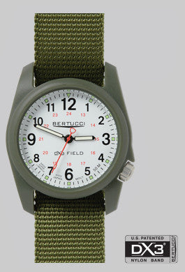 BERTUCCI DX3 FOREST WHT DIAL FIELD WATCH
